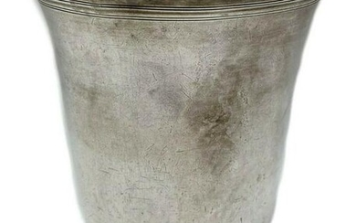French Sterling Silver Christening Cup or Beaker