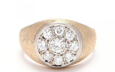 Gent's Gold and Diamond Ring
