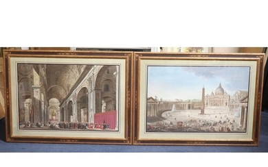 Italian School c.1800 The Pope in Procession from St Peter's...