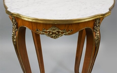 LOUIS XV STYLE MARBLE TOP TABLE AMBULANTE