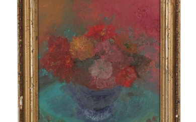 Laura Allgood Floral Still Life Oil Painting, Late 20th Century