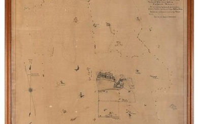 [MAP]. A hand drawn map of a farm in Columbia County