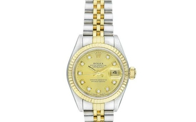 Rolex Datejust Ladies in Stainless Steel and 18K Gold