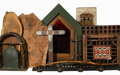 Rustic Style Wooden Object Assortment