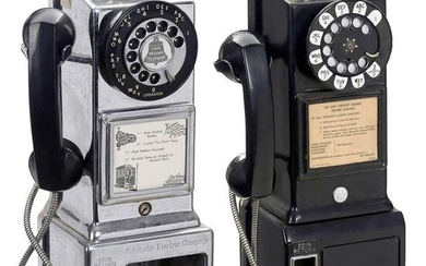 Two American Coin-Operated Telephones, c. 1960