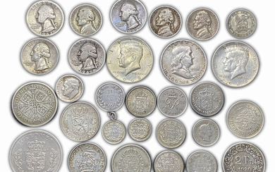 World - Lot of 29 world silver coins -...
