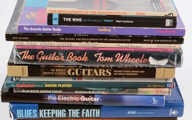 18 Guitar reference books and catalogues