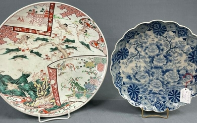2 plates of porcelain. Probably China antique.