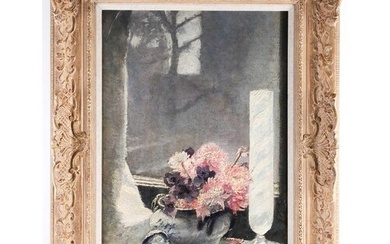 20th century school, a still life study of flowers in a vase...