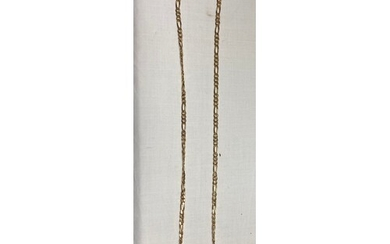A 9ct gold figaro link necklace