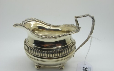 A Decorative Chester Hallmarked Silver Jug, Nathan & Hayes, ...