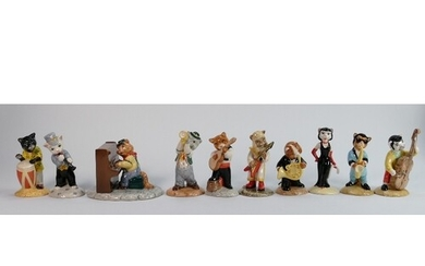 A collection of Beswick cats chorus figures (10)