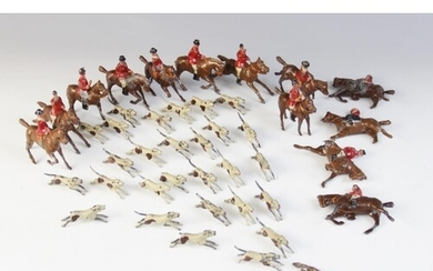 A collection of vintage cast metal farm models by W. Britain...