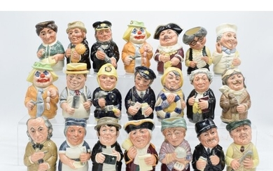 A good collection of Royal Doulton Doultonville Toby jugs to...