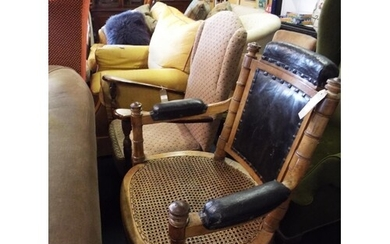 A vintage C.H Pinncet Colonial bamboo effect dentist chair w...