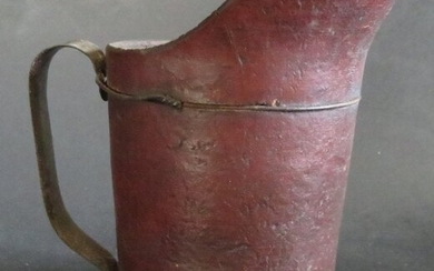 Antique 1880s Pint Pitcher by United Indurated Fibre Co