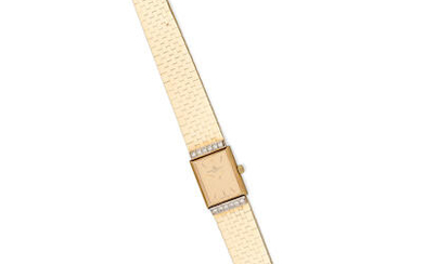 BAUME & MERCIER | A GOLD AND DIAMOND BRACELET WATCH