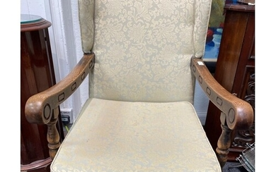 C1920's OLD ERCOL INSPIRED carved armchair( very comfy!) WIT...