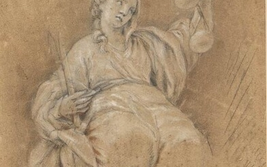 EMILIAN SCHOOL, 16th CENTURY Allegory of Justice Pencil, charcoal and...
