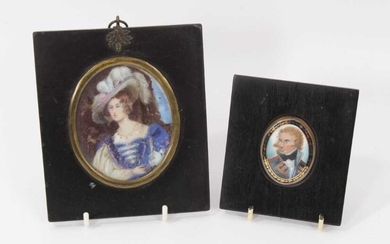 Early 19th century portrait miniature on ivory depicting Nelson