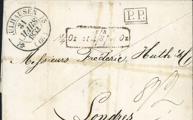 """FRANCE """"Oz at 4s/8d per Oz"""" MARK INC. THE RARE DOTTED TYPE; ..."""