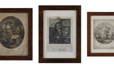 INCISORE DEL XIX SECOLO Group of three engravings