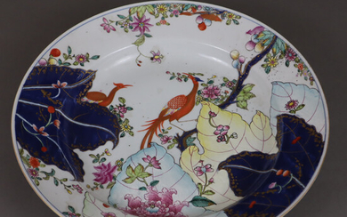 LARGE PLATE - China, late Qing dynasty, porcelain.