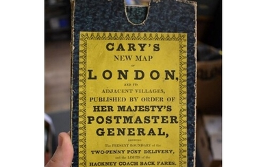 LONDON MAP: 'Cary's New Map of London, and its adjacent...