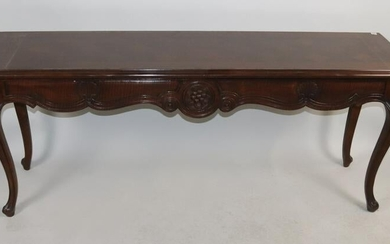 Mahogany Console Table with Cabriole Legs