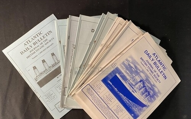 R.M.S. TITANIC: Large collection of, approx. 60, British Tit...