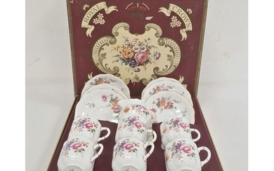 Royal Crown Derby china 'Derby Posies' tea set for six perso...