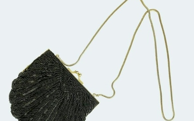 Scallop-Form Beaded Clutch