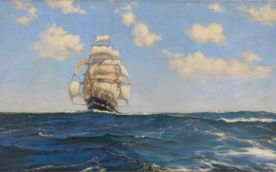 Sovereign of the Rolling Sea, Montague Dawson