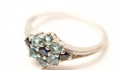Sterling Silver & Coloured Gemstone Ring
