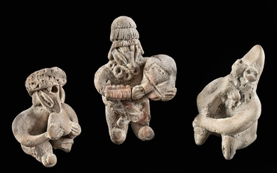 Three Miniature West Mexican Pottery Figures