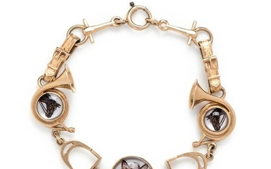 YELLOW GOLD AND ESSEX CRYSTAL BRACELET