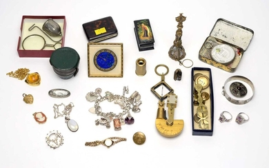 A 19th-Century brass sovereign balance and other items