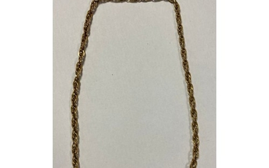 A 9ct gold fancy link necklace