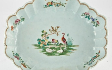 A Chinese Porcelain Scalloped Serving Dish Circa 1775