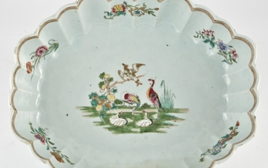 A Chinese Porcelain Scalloped Serving Dish
