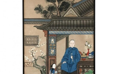 A Chinese Qing Dynasty Portrait Painting