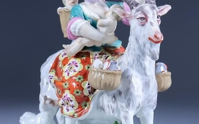 """A Continental Porcelain Group - """"The Tailor's Wife"""", 20th..."""