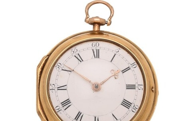 A FINE GEORGE III GOLD PAIR-CASED POCKET WATCH WITH CYLINDER ESCAPEMENT