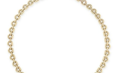 A GOLD COLLAR NECKLACE, CHIAMPESAN in 9ct yellow gold