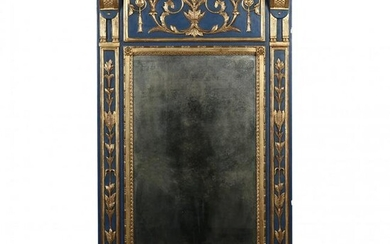 A Large Italianate Neoclassical Style Painted and Gilt