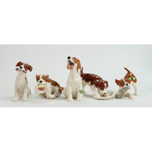 A collection of Beswick character dogs (5)