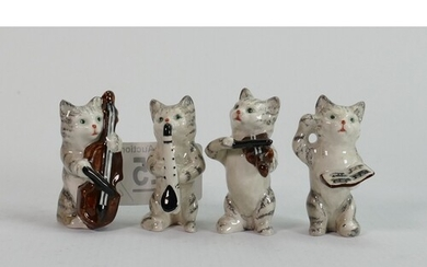 A collection of Beswick early cat chorus figures (4)
