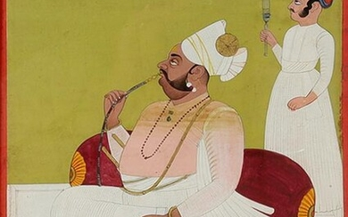 AN INDIAN MINIATURE PAINTING, 18TH CEN.