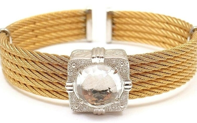 AUTHENTIC CHARRIOL 18K GOLD AND STEEL WIRE DIAMOND
