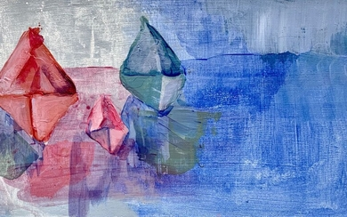 Anna Velkovic, Stray paper boats in the open sea, 2020